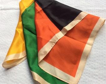 Vintage color block fashion scarf