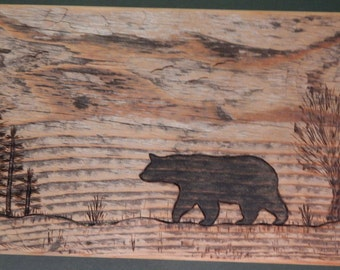 Sunburnt Barnwood BEAR BOX handmade from reclaimed weathered wood - rustic refined