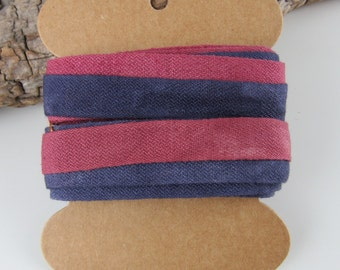 Brazilwood Logwood Natural Dye Pink Purple Cotton Ribbon Tape