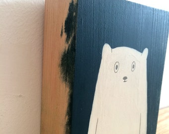 Little Bear -  Original Painting on Wood