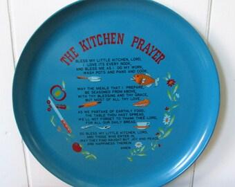 vintage kitchen prayer tray