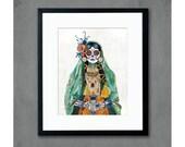Senorita (Verde) Art Print