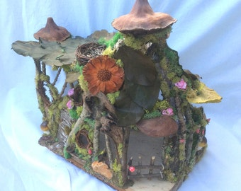 OOAK Forest Whimsy fairy house fairy cottage gnome home Waldorf doll house