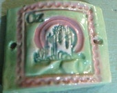 Wizard of Oz Emerald City Bracelet Bar Connector Bead