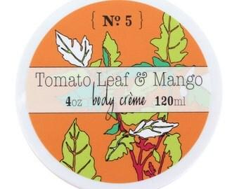 Tomato Leaf & Mango Shea Butter Body Cream - Vegan and Cruelty Free - 95% natural