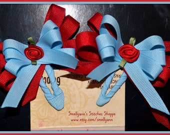 For CUSTOM Order of Small Boutique Hair Bows on Snap Clip Barrettes in ANY Colors You wish - Order HERE!