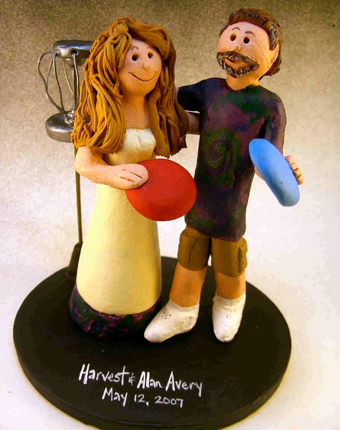 disc golf wedding cake topper disc golf wedding cake toppers custom made by 13540