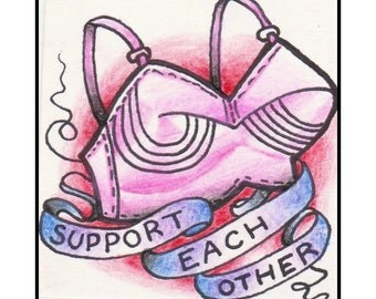 Support Each Other  ART PRINT