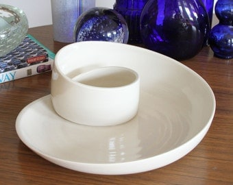 Ceramic Serving Plate SHOP SALE - Porcelain Whirl Serving Plate