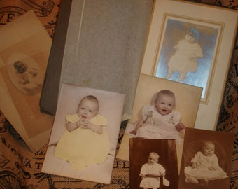 Baby photos cabinet cards vintage*Lot of 13* Old*Great for altered art*Collage*Decoupage