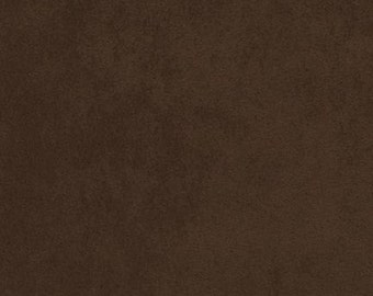 Robert Kaufman - Fabric by the yard - Nu Suede - Chocolate #1073 - Microfiber - 100% Polyester