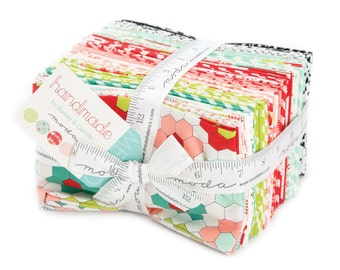 Handmade Fat Eighth Bundle by Bonnie & Camille for Moda Fabrics, 40 9 inch X 22 inch strips