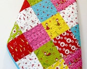SALE Baby Girl Quilt Woodland Fairies Nursery Bedding Handmade Patchwork