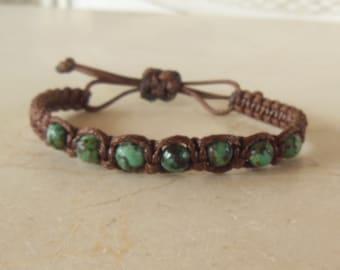 African Turquoise Macrame Bracelet