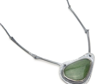 British Columbia Jade and Sterling Necklace