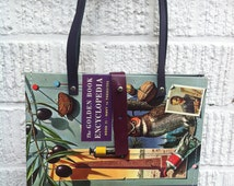 Encyclopedia Hardback Book Handbag, Recycled Book, Vintage Book Bag