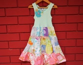 Little Girls Sweet Floral Patchwork Dress size 2-3