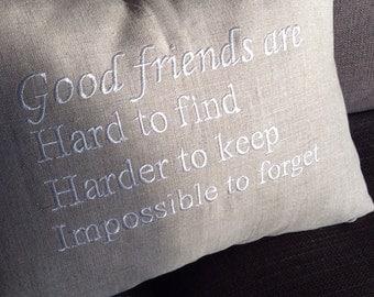 Decorative pillow cover. Friend pillow cover. Best friend gift
