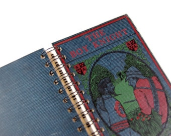 The Boy Knight- Recycled Book Journal, Notebook, Sketchbook, made from altered book