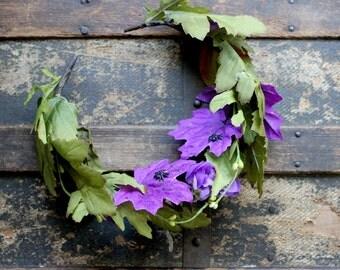 Arachne Faerie Leaf & Flower Crown - Wreath - Tiara - Headband - Costume - Wedding - Bridal - Prom