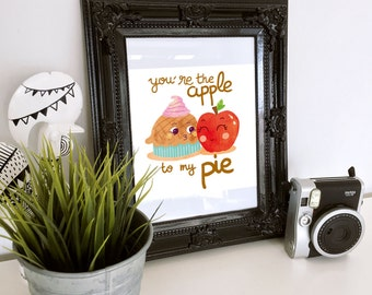 Affiche - Apple pie - pun - print - children print