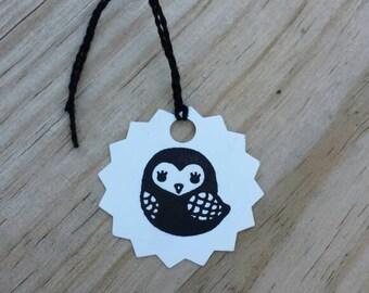 8 mini owl tags