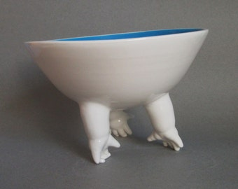 Tilted Standing Bowl w/Hands, ready to ship