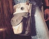 US Mail Bag - Convertible Mini Belt/Waist Bag Vintage US Mail - One Piece- Americana OOAK Canvas Bag Selina Vaughan Studios