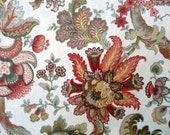 Autumn Colors Quilting Fabric, Cotton, Quilts, Cotton Weave Fabric, Sewing Crafts,  Vintage Paisley, Floral, Quilting