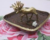 Woodland Moose Jewelry Ring Dish Holder