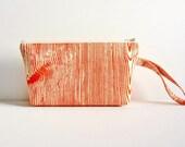 Knitting Project Bag Extra Small Zipper Pouch Woodgrain in Rust Joel Dewberry Ginseng