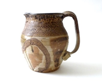 Edna Arnow Modern Studio Pottery Pitcher or Ewer