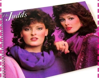 SALE 40% OFF--- The JUDDS, Wynonna & Naomi Recycled Notebook / Upcycled Retro Record Album Cover Journal - Eco-Friendly - Vintage Circa 1984