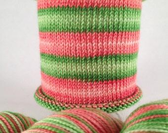 Big Wedding, Can't Elope: Hand-dyed gradient self-striping sock yarn, 80/20 SW merino/nylon