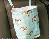 Unicorns and Rainbows - Reusable Auto Trash Bag from green by mamamade
