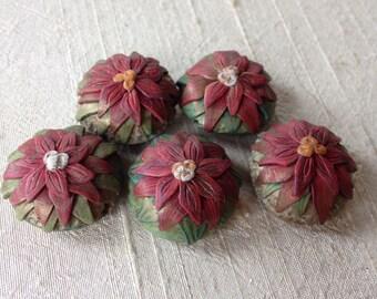 Poinsettia Bonbon Flower Beads