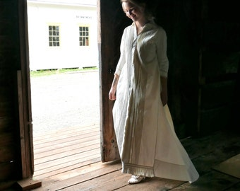 Victorian Night Robe With Train Wedding Trousseau XS