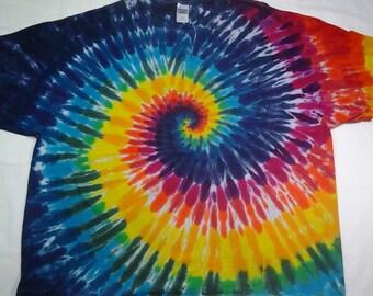 tie dye size 4XL Rainbow Spiral Shirt ready to ship