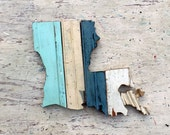 Louisiana Decor, State Outline, Reclaimed Wood Art, State Wall Decor, New Orleans Wall Art, Wooden Wall Decor, Wooden State Decor,