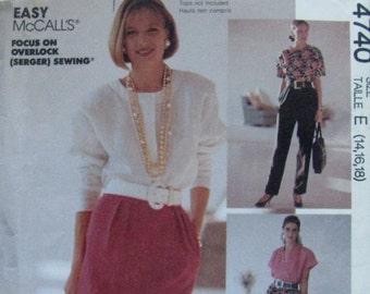 40% OFF SALE Vintage 80s McCalls 4740 Sew News Misses' Skirt and Pants Size 14-16-18 UNCUT