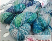 100g Overwashed Colour Yarn (4ply/fingering) - POSEIDON on COZY SOCK - pre order