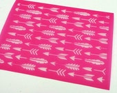 Arrows Silkscreen for Polymer clay, Paper Crafts, painted patterns on smooth surfaces