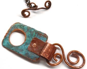 Handmade Rustic Copper Toggle Clasp TC509