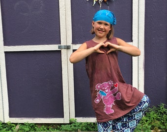 Batik Dancing Bear Play Dress size 4T, 6, 10, or 12