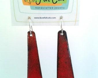 Red Ombre Earrings