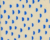 Cotton + Steel Print Shop - moons blue - fat quarter