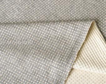 Japanese Fabric Waffle Knit - grey - 50cm