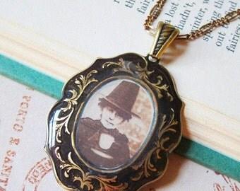 Sale - A Witches' Tea Party Medallion Necklace