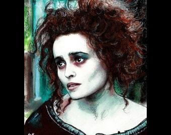 "Print 8x10"" - Mrs. Lovett - Sweeney Todd Tim Burton Johnny Depp Helena Bonham Carter Pop Art Halloween Horror Demon Barber London Pop"