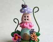 Miniature  Charming Fairy Whimsy Two Story House OOAK by C. Rohal